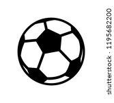 soccer ball icon templates   Shutterstock .eps vector #1195682200