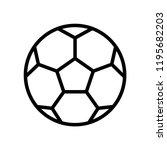 soccer ball icon templates | Shutterstock .eps vector #1195682203