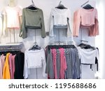 different clothing   stripy... | Shutterstock . vector #1195688686