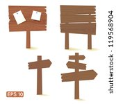 set of dark wooden signs and...   Shutterstock .eps vector #119568904