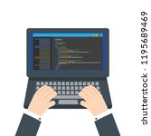 html code website. laptop...