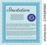 light blue invitation.... | Shutterstock .eps vector #1195689880