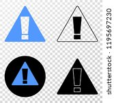warning eps vector pictograph...