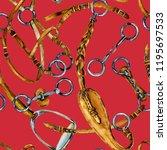 harness horse watercolor... | Shutterstock . vector #1195697533