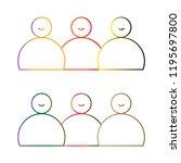man partner network logo design ... | Shutterstock .eps vector #1195697800