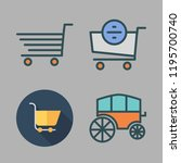 cart icon set. vector set about ... | Shutterstock .eps vector #1195700740