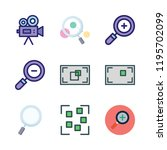zoom icon set. vector set about ... | Shutterstock .eps vector #1195702099