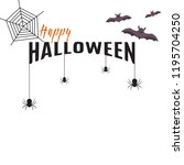 vector halloween background... | Shutterstock .eps vector #1195704250