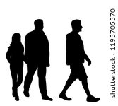silhouette of people who go | Shutterstock .eps vector #1195705570