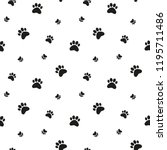 paw print background. cat  dog... | Shutterstock .eps vector #1195711486