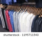 variety of different male... | Shutterstock . vector #1195711543