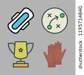 competition icon set. vector... | Shutterstock .eps vector #1195714840