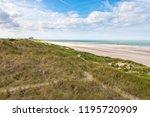 belgian north sea beach and... | Shutterstock . vector #1195720909