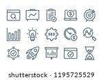 seo line icons. vector linewar...   Shutterstock .eps vector #1195725529