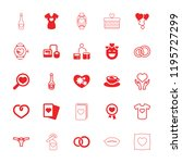 heart icon. collection of 25... | Shutterstock .eps vector #1195727299