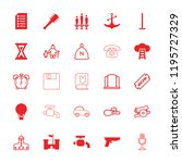 old icon. collection of 25 old... | Shutterstock .eps vector #1195727329