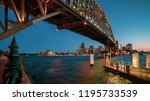beautiful sunset at sydney city ... | Shutterstock . vector #1195733539