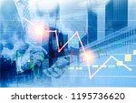 businessman and hong kong city... | Shutterstock . vector #1195736620