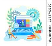 online learning education ... | Shutterstock .eps vector #1195743310