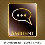 shiny emblem with speech... | Shutterstock .eps vector #1195747450