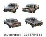Set Of 3d Renders Of Old Rusty...