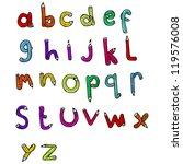 cartoon alphabet with pencil... | Shutterstock .eps vector #119576008
