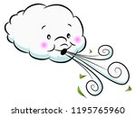 an image of a adorable cloud... | Shutterstock .eps vector #1195765960