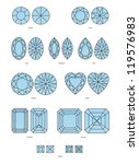 vector set of diamond design... | Shutterstock .eps vector #119576983