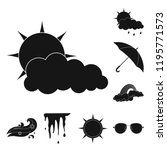 isolated object of weather and... | Shutterstock .eps vector #1195771573