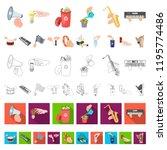 manipulation by hands cartoon... | Shutterstock .eps vector #1195774486