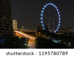 singapore night sky view from... | Shutterstock . vector #1195780789