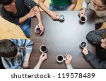 students sitting around table... | Shutterstock . vector #119578489