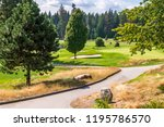 golf course with gorgeous green ... | Shutterstock . vector #1195786570