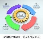 4 options  3d vector...   Shutterstock .eps vector #1195789513