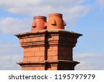 ceramic chimney pots on the top ... | Shutterstock . vector #1195797979