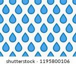 drops pattern. endless... | Shutterstock .eps vector #1195800106