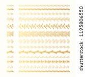set of golden vintage hand... | Shutterstock .eps vector #1195806550