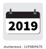 calendar icon 2019. new year...