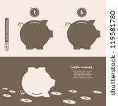 piggy bank   saving money.... | Shutterstock .eps vector #119581780