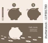 piggy bank   saving money.... | Shutterstock .eps vector #119581780