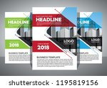 brochure template layout  cover ... | Shutterstock .eps vector #1195819156