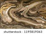 gold marbling texture design.... | Shutterstock . vector #1195819363