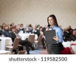 beautiful business woman is... | Shutterstock . vector #119582500