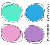 abstract round banner set....   Shutterstock .eps vector #1195826479