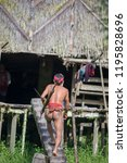 indians of the mentawai tribe ... | Shutterstock . vector #1195828696