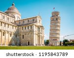 leaning tower of pisa  italy... | Shutterstock . vector #1195843789