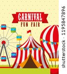 carnival fun fair | Shutterstock .eps vector #1195847896