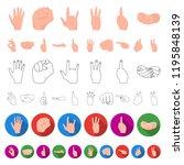 hand gesture cartoon icons in...   Shutterstock .eps vector #1195848139
