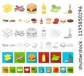 burger and ingredients cartoon...