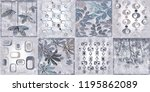 home decorative wall tiles... | Shutterstock . vector #1195862089
